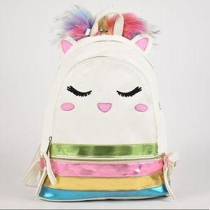 Girl's Under One Sky Unicorn Faux Fur Pom Backpack